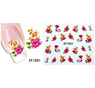 50sheets  Mixed Flower 50Styles Water Transfer Sticker Nail Art Beautiful DIY XF1051-1100