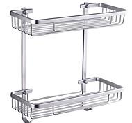 """Mensola del bagno Alluminio A muro 370 x 313 x 140mm (14.6 x 12.3 x 5.5"""") Alluminio Moderno"""