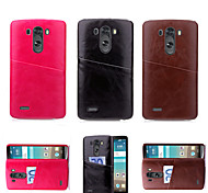 PU Leather Card Back Cover Case For LG G3/G4 (Assorted Color)