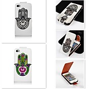 The Palm of your Hand Patten Up-down Turn Over PU Leather Full Body Case for iPhone 4/4S