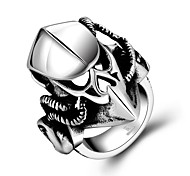 Animal Restoring Ancient Ways is Exaggerated Stainless Steel Men's Ring