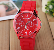 Women's Fashion Watch Selling Geneva Silicone Band Quartz Watch Cool Watches Unique Watches