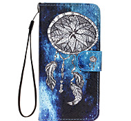 Star Campanula Pattern PU Leather Material Phone Case for Samsung Galaxy S5/ S6/S6 edge/ S7/ S7 edge