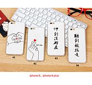 carattere sollievo modello copertura posteriore per il iphone 6 più / s più