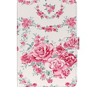 Roses Folio Leather Stand Cover Case With Stand for iPad Mini 4