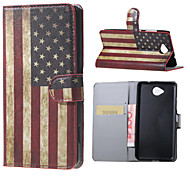 US Flag Magnetic PU Leather wallet Flip Stand Case cover for Microsoft Lumia 650