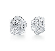 925 Silver Sterling Silver Jewelry Earrings Sample Flower Zircon Stud Earring 1Pair