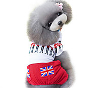 Dog Clothes/Jumpsuit Red Spring/Fall Britsh / National Flag Fashion