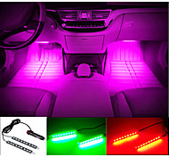 Car Decorative Atmosphere Lamp Charge LED Interior Floor Decoration Light with Mini Dimmer LED Single Color 2PCS