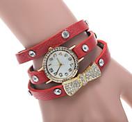 Bow Tie With Diamond Surround Three Laps Bracelet Watch Speed