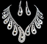 Full Crystal Jewelry Set(Necklace+Earrings)
