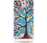Painting Tree Painted Quicksand PC Phone Case For Samsung Galaxy Note3/Note4/Note5 + A Touch Screen Pen