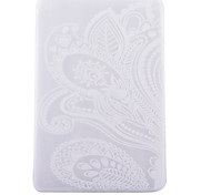 White Full Flower Pattern TPU Soft Back Tablet Case for iPad Air 2/iPad 6