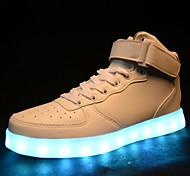 las de las mujeres llevaron los zapatos de carga USB a zapatillas de deporte sintéticos deportivo negro / casual / blanco