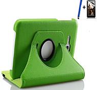 Para con Soporte / Activado/Apagado Automático / Flip Funda Cuerpo Entero Funda Un Color Dura Cuero Sintético Samsung Tab 3 Lite