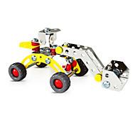Rompecabezas Puzzles 3D / Vehículos de juego Bloques de construcción Juguetes de bricolaje Coche 78pcs Metal Amarillo / PlataModelismo y
