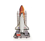 Jigsaw Puzzles 3D Puzzles Building Blocks DIY Toys Space Ship Paper Silver / Khaki Model & Building Toy