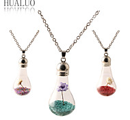 HUALUO®2015 fresh glass necklace sweater chain