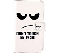 For Samsung Galaxy Case Card Holder / Wallet / with Stand / Flip Case Full Body Case Word / Phrase PU Leather Samsung Grand Neo