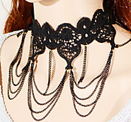 Vintage / Party Alloy / Fabric Collar