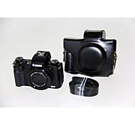 Etuis-Une épaule-Appareil photo numérique-Canon-Résistant à la poussière-Noir Café Marron