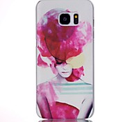 Girls Pattern PC Material Phone Case for Samsung Galaxy S7/S7 edge/S7 edge plus