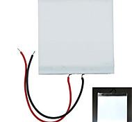 5 * 5 * 0,2 cm luz blanca DIY LED luz de fondo LGP panel de guía de luz para pi frambuesa Arduino - blanco