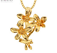 Fashion Flowers Pendant Men Jewelry 18K Gold Plated Chain Necklaces & Pendants Vintage Jewelry Women Gifts P30118