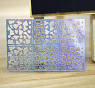 5 Sheets Sliver Metallic Design Shape Nail Art Decal Hollow Sticker 3D Decal Manicure Decoration STZ-K11