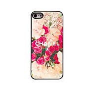 Flower Design Aluminum Hard Case for iPhone 5/5S