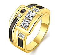 R773 Wholesale High Quality Nickle Free Antiallergic New Fashion Jewelry 18K Gold Plated Ring