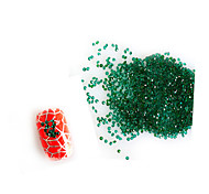 3D Nail Art 1440pcs/packs Green Micro Zircon Diamond 1.1/1.2/1.3/1.4/1.5/1.6mmRhinestones Decorations DIY  NC223