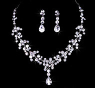 Full Crystal Jewelry Set(Necklace+Earrings) for Wedding Party