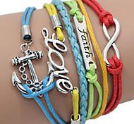 Rainbow Color Multilayer Bird & Life Tree Weave Bracelet