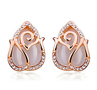 Fashion Fashion Rose Opal Stud Earrings