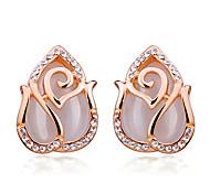 Fashion Fashion Rose Opal Stud Earrings