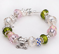 Fashion Jewelry Bracelets&brangle Glass European Beads bracelets for Women Gift Strand Beads bracelets BLH069
