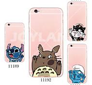 Für iPhone 5 Hülle Transparent / Muster Hülle Rückseitenabdeckung Hülle Zeichentrick Weich TPU iPhone 7 plus / iPhone 7 / iPhone SE/5s/5