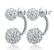 Lureme®  Korean Fashion 925  Sterling Silver Drill Shambhala Earrings
