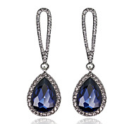Women's Elegant AAA Zircon Crystal Drop Earrings for Wedding Party, Fine JewelryImitation Diamond Birthstone