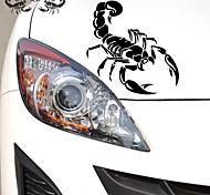 28 * 17cm divertida del dibujo animado El Rey Escorpión engomada del coche de la ventana de coche pared de estilo etiqueta del coche