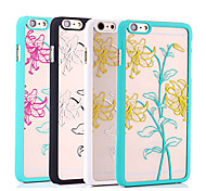 Double Color Perfume Lily Color Relief Mobile Phone Protection Shell Chinese Style for iPhone 6/6S 4.7""