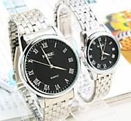 Roman scale men and women lovers watches students steel band watches