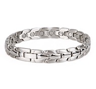 Healing Magnetic Bracelet Men 316L Stainless Steel Health Care Elements (Magnetic) Sliver Hand Chain