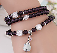 Women's Fashion Dolphin Playing with a Ball Imitation Crystal Stone Multilayer Charm Bracelet