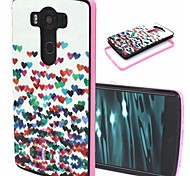 2-in-1 Colorful Heart Pattern TPU Back Cover with PC Bumper Shockproof Soft Case for LG V10/G4 Pro