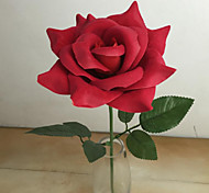 High Quality Roses Flowers  Silk Flower Artificial Flowers for home Decoration Wedding Decoration (Red)