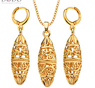 Vintage India Necklace Earring Jewelry Set 18K Gold Plated Gift Trendy Fashion Charm Necklace Set For Women S20135