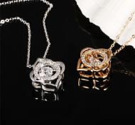 Around Diamond Ms 18K Gold Titanium Steel NecklacesImitation Diamond Birthstone