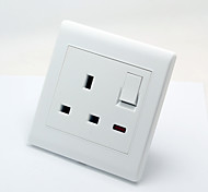 Elegant Pure White with Light Three Hole Socket